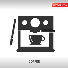 coffee machine vector icon