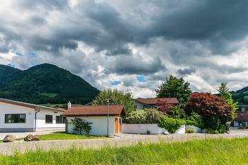 Bavaria, Germany June 10, 2018: Lovely rural countryside in Bavaria