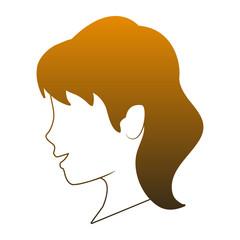 Woman faceless head vector illustration graphic design