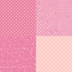 Set Trendy seamless pattern polka dot. Vector isolated on trend pastel background. Concept Satisfying slime.