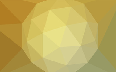 Light Green, Yellow vector polygon abstract layout.
