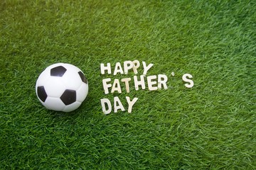 Happy Father's day to soccer with football