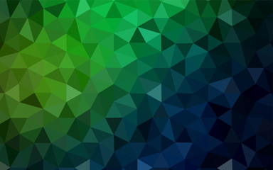 Dark Green vector low poly layout.