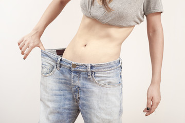 woman loss weight  doing fitness