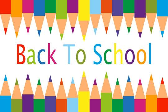 Fondo de lapices de colores de vuelta al colegio.
