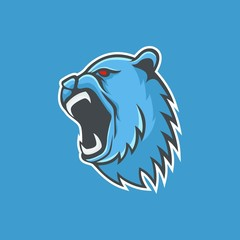 Bear logo mascot design head wildlife sport illustration emblem isolated team vector