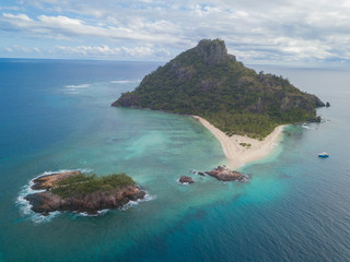 Beautiful veiw of the Monuriki island where the Castaway movie was filmed