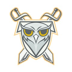 Owl vector mascot design sport animals illustration emblem isolated