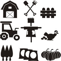 Farming tools icon vector