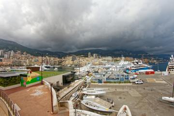 Monaco - Storm on the harbour