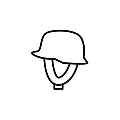motorcycle helmet icon. Element of motorbike for mobile concept and web apps illustration. Thin line icon for website design and development, app development. Premium icon
