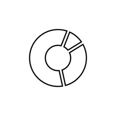 pie chart line icon. Element of chart icon for mobile concept and web apps. Thin line pie chart icon can be used for web and mobile. Premium icon