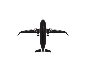 Aircraft, airplane, airline logo label. Journey, air travel, airliner symbol. Vector illustration
