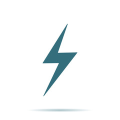 Blue Storm icon isolated on background. Modern flat pictogram, business, marketing, internet concept