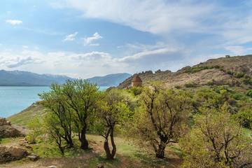 Akdamar Island in Van Lake. Turkey