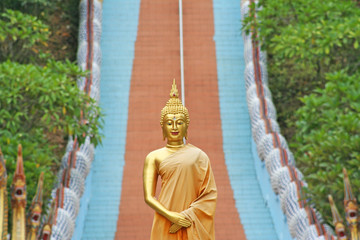 Standing buddha image at Doi Sapphanyu temple,Chiang Mai ,Thailand