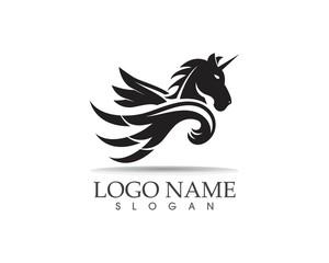 Pegasus vector logo template vector illustration