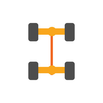 Axles Sparepart And Car Logo Icon Design