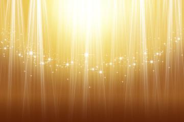 煌めく星と金色の抽象的背景