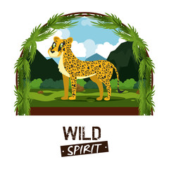 Jaguar wild african animal cartoons vector illustration graphic design