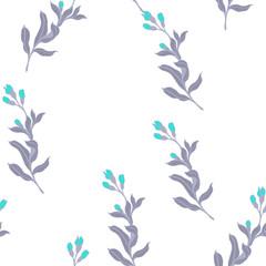 Elegance pattern with flowers and leaf.Floral vector illustration.