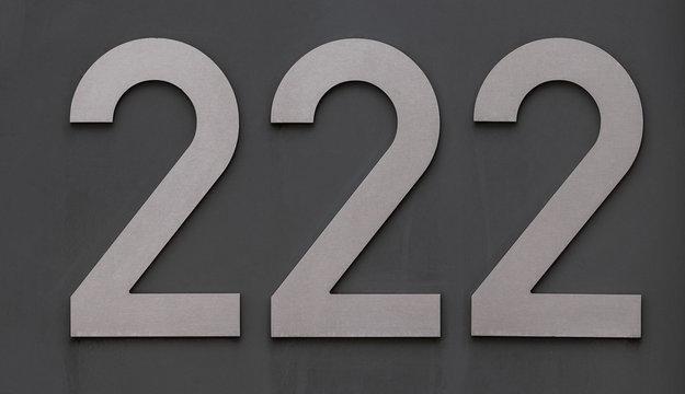 Hausnummer 222