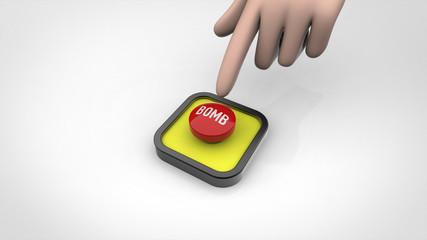 ボムボタンと指