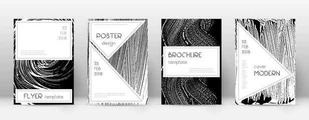 Cover page design template. Stylish brochure layout. Creative trendy abstract cover page. Black and