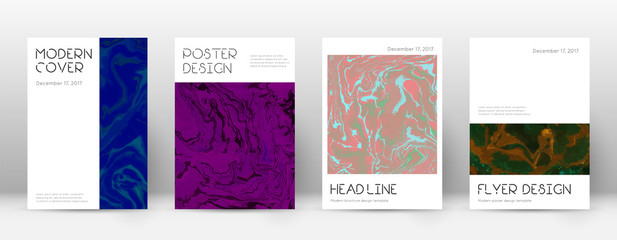 Abstract cover. Overwhelming design template. Suminagashi marble minimal poster. Overwhelming trendy