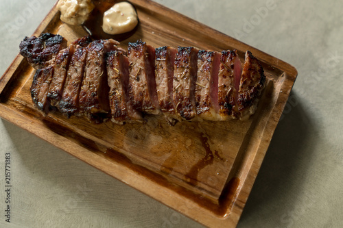 australia wagyu beef medium rare steak