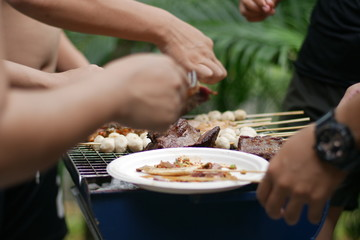 Grill party family in summer season