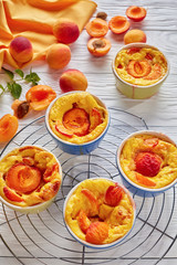 french summer dessert - Baked apricot clafoutis