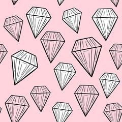 Vector seamless pattern with diamonds. Scandinavian motives. Baby print. Cartoon background