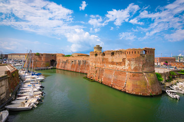 Wall Mural - Old fortress of Livorno, Tuscany, Italy