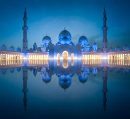 Sheikh Zayed Grand Mosque at night Abu-Dhabi, UAE