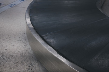 baggage conveyor belt at airport. travel & transportation concept