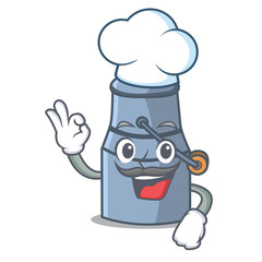 Chef milk can character cartoon