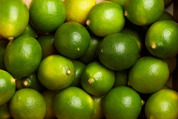 Bunch of fresh green limes