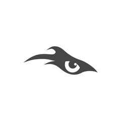Eye of eagle icon, eagle logo