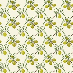 Vector seamless pattern with olive