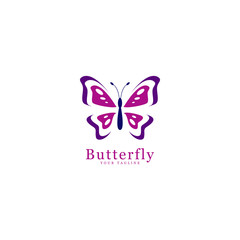 abstract butterfly logo, icon template