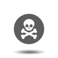 Crossbones / death skull, danger or poison flat icon for apps and websites