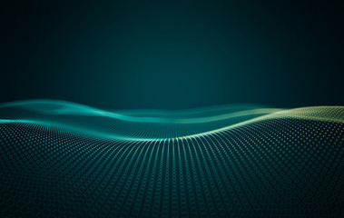 Poster Abstract wave Abstract technology background