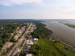 Aerial view of Daphne, Alabama
