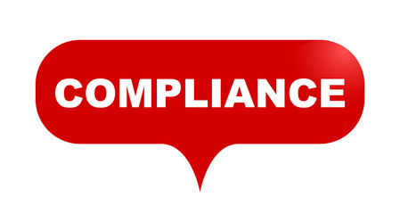red vector bubble banner compliance