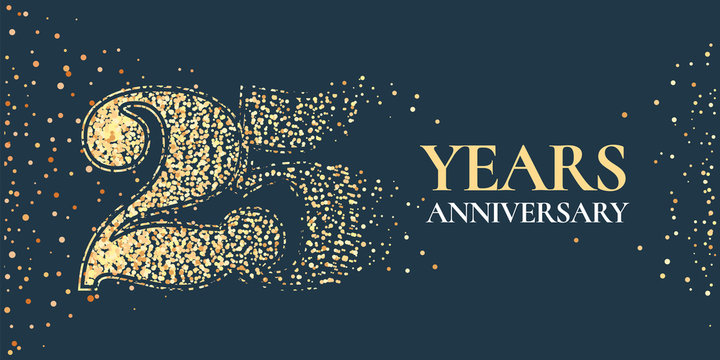 25 years anniversary celebration vector icon, logo