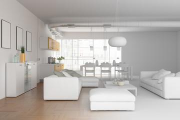 model of modern interior design living room