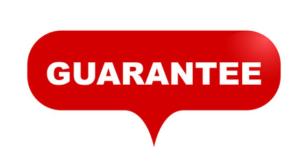 red vector bubble banner guarantee