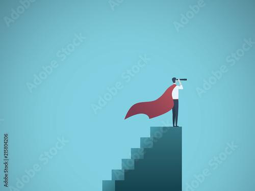 Businessman Dressed As Superhero Vector Concept Symbol Of Power