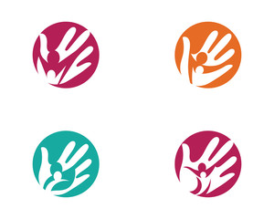 Hand Care Logo Template vector icon